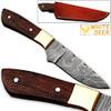 Japanese 1095 HC & 15N20 Alloy Steel Handmade Damascus Hunting Knife