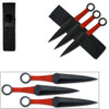 Naruto 9in Kunai Set of 3 Red Ninja Throwing Knives Uzumaki Ship