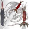 Skyrim Dark Brotherhood Dagger Dragonborn Dovahkiin Flying Dragon 24in Steel