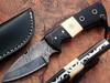 White Deer Skiner Damascus Steel Knife