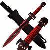 FANTASY SHORT SWORD FULL TANG RED