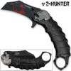 Z-HUNTER Zombie Tactical Karambit Black Knife