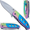 Titanium Coated Vengeance Knife AUS-8 Steel Manual Folding - BL