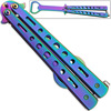 Bottle Popping Titanium Coated Balisong Opener ALL STEEL Butterf