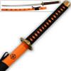Supreme Kai Katana Japanese Tosho Sword Orange & Black Ornate