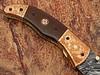 Executive Series Bakelite Folding Damascus Knife Solid Brass ENGRAVED Bolster