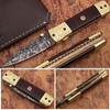 Executive Series Italian-Style Damascus Folding Knife
