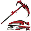 "RWBY Crescent Rose Cosplay Wooden Scythe Ruby Weapons Red Full Sized ""High Velocity Sniper"""