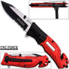 TAC Force Firefighter Rescue Flashlight Pocket Knife