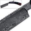 White Deer Damascus Steel Straight Razor Shaving 100% Handcrafted - Bison Horn & Cocobolo Grips