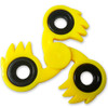 Ki-Blast Spiked Fidget Tri-Spinner Yellow Fireball