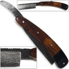 White Deer Damascus Steel Ultra Sharp Straight Razor Shaving - Bison Horn & Walnut Grips