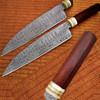 Custom Made Damascus Steel Chef Knife Rose Wood & Giraffe Handle …