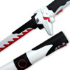 Overwatch Katana Genji Sword WHITE/RED Dragonblade Cybernetic Warrior Steel Replica OW