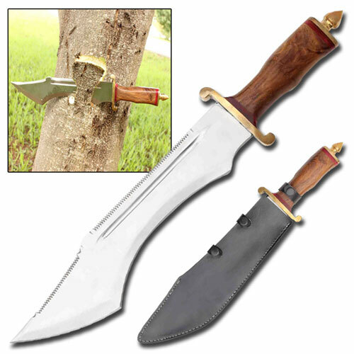 Crocodile Dundee Sawback Bowie Knife Massive Stand Alone Survival Knife