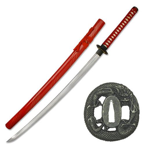 Full Tang Construction Special Classic Katana Sword (Red)