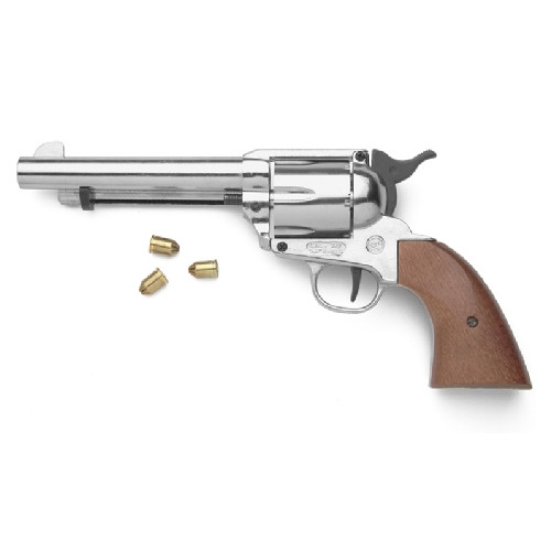 Old West M1873 Nickel Finish Blank Firing Revolver