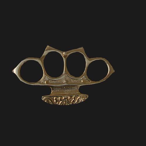 Boxer Belt Buckle. (Gold)