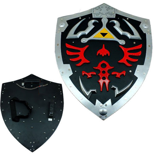 Dark Links Zelda Shield - Extra Large All Steel 25 Inches Black