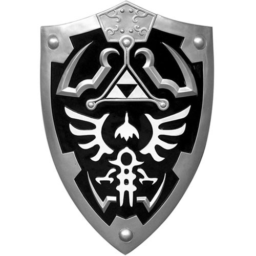 Dark Link Hylian Zelda Shield Full Size Black