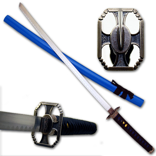 Blue Warrior Katana Sword