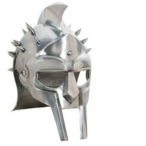 GLADIATOR MAXIMUS ROMAN SPIKED HELMET Functional 18ga Carbon Steel