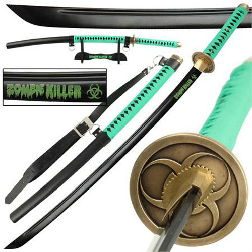 Zombie Killer High Carbon Steel Full Tang Katana Sword