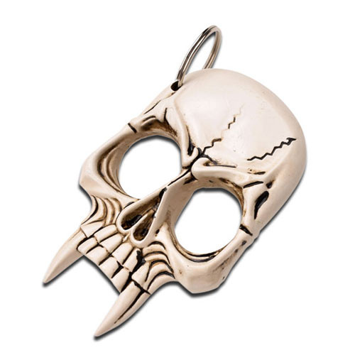 BONE COLOR PLASTIC KNUCKLE WITH KEY RING