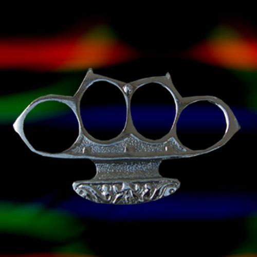 Boxer Belt Buckle. ( Silver)