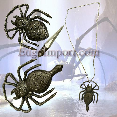 Spider Neck Knife with Chain