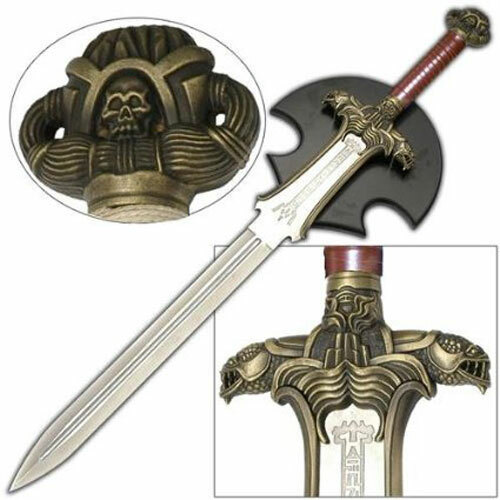 Conan Atlantean Hyborian Age Sword - Engraved w/ Plaque