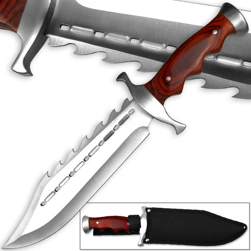 Texas Longhorn Spiked Full Tang Bowie Knife