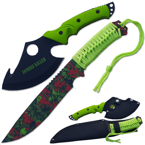 Ultimate Zombie Survival Knife Set Full Tang Sharp