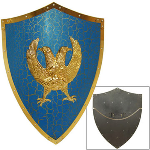 Medieval Two Headed Eagle Shield.