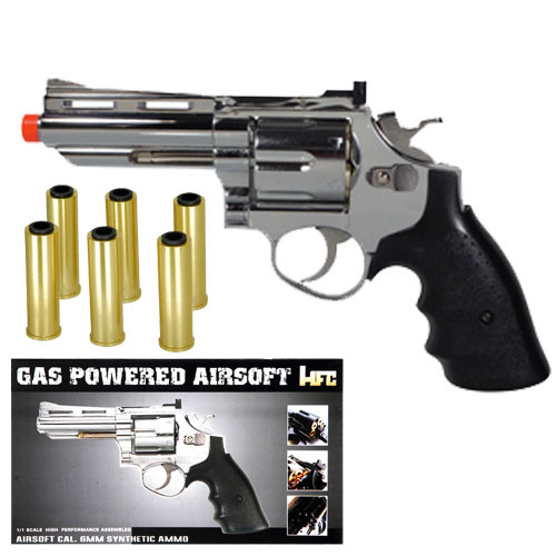 HFC HG-132C Gas Powered Revolver Pistol in Silver
