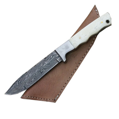 Handmade Damascus Steel Hunting Knife (Bone Handle) 1