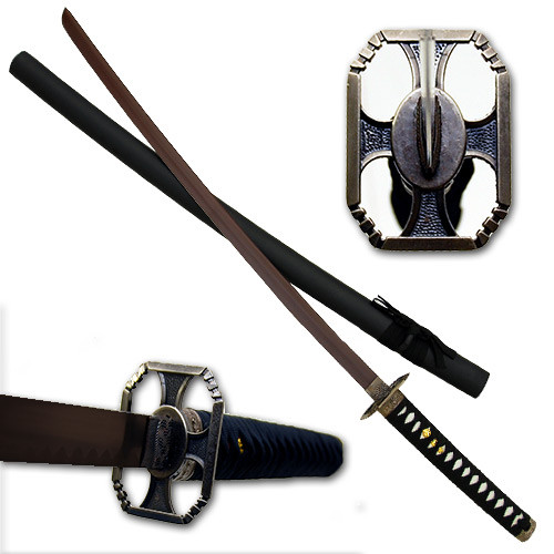 Red Blade Warrior Katana Sword Black Scabard