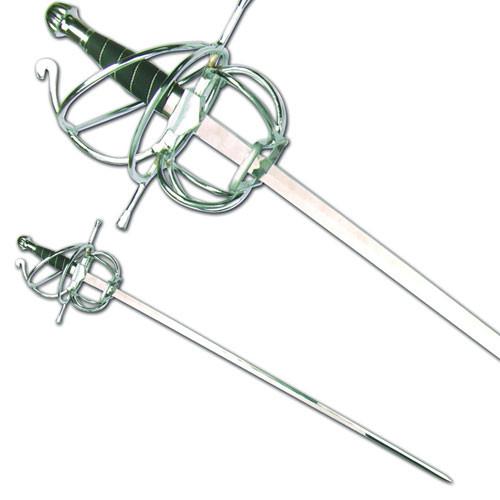Renaissance Rapier Fencing Sword w/ Wire Wrapped Swept