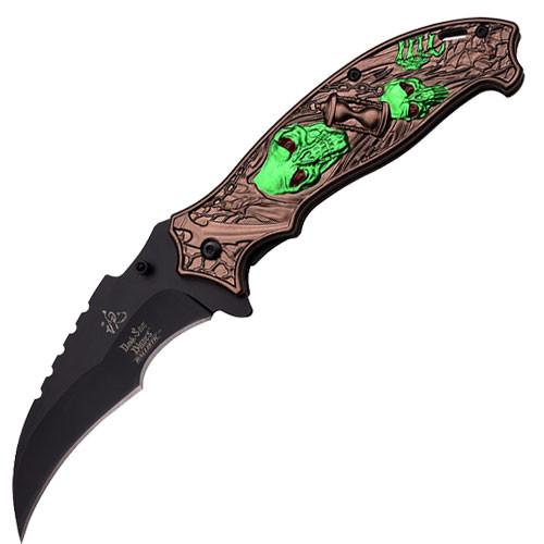 "Dark Side Blades Spring Assisted Fantasy ""Time Reaper"" Knife"