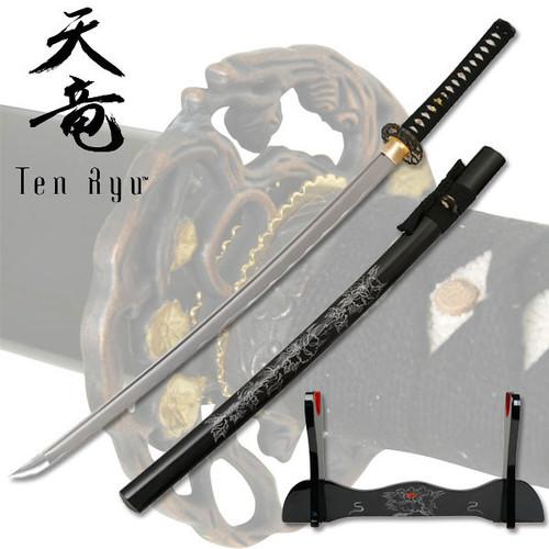 "Tenryu TR-009 Hand Forged Samurai Sword 40.5"" Overall"