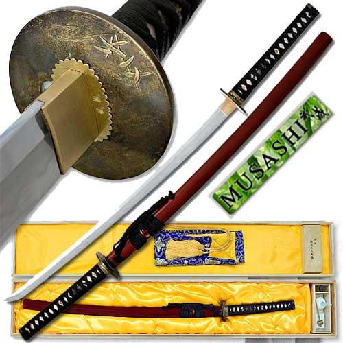 Musashi - Kobuse Folded - San Mai Katana Sword - Koi Bamboo