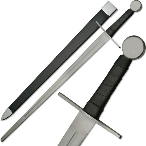 Knights Full Tang Longsword Blunt Battle Ready Functional Sword