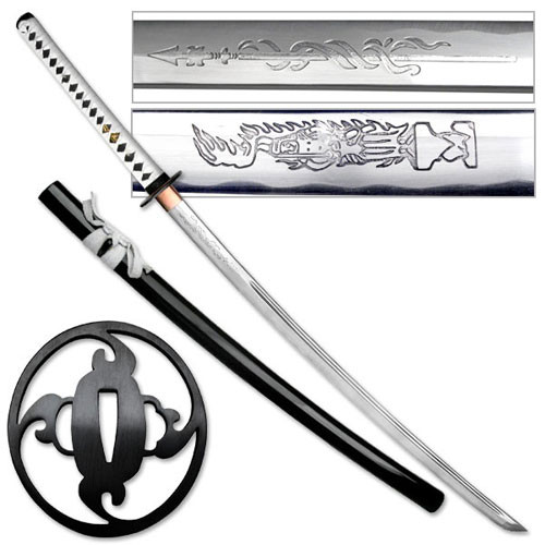 Shadow Warrior Handmade Katana Sword - White Edition