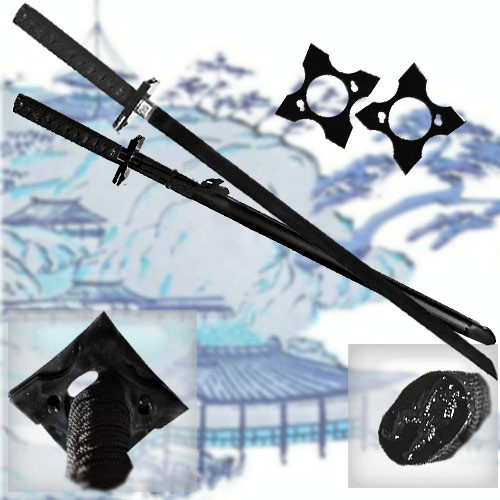"39"" Black Ninja Warrior Sword"