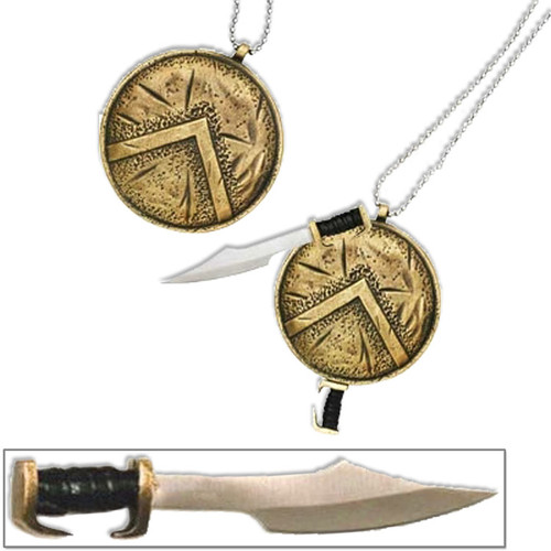 Spartan Shield Necklace Sword 300 Warriors Limited Edition