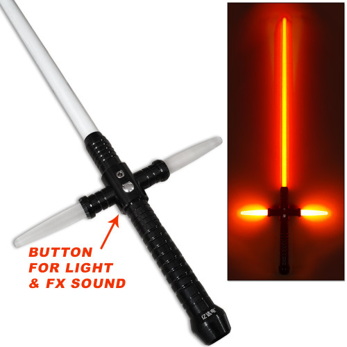 Kylo Ren SFX Light Saber 1:1 RARE Star Wars Rechargeable Metal Base w Sound