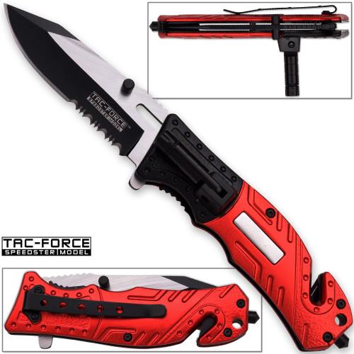 TAC Force Firefighter Rescue Flashlight Pocket Knife