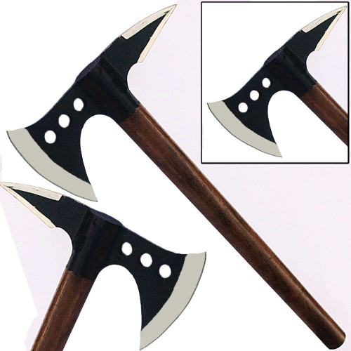 Spiked Medieval Axe Steel Viking Replica Battle Hatchet