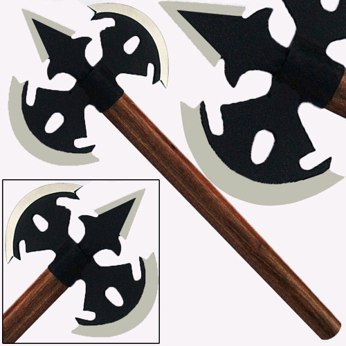 Double Bit Medieval Spear Axe Steel Viking Replica