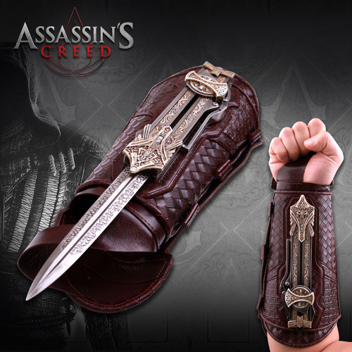 Officially Licensed Assassin's Creed Wrist Hidden Blade of Aguilar Gauntlet